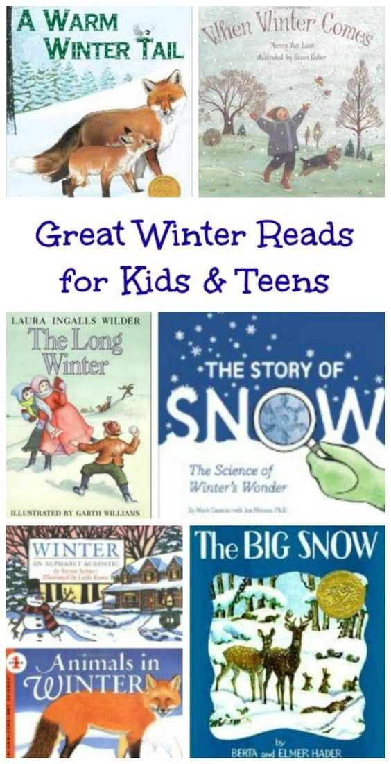 Winter chapter books and picture books for children, tweens and teens