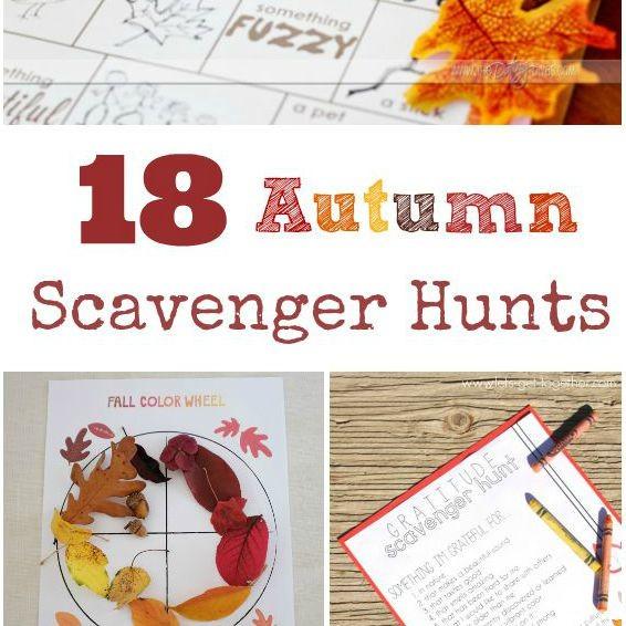 Seasonal scavenger hunts for kids for winter, spring, fall and summer!