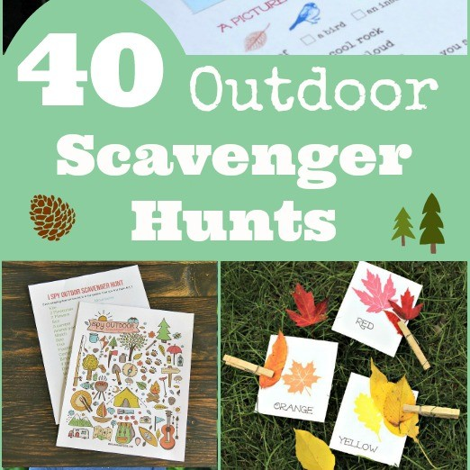 free printable indoor and outdoor scavenger hunt ideas for kids