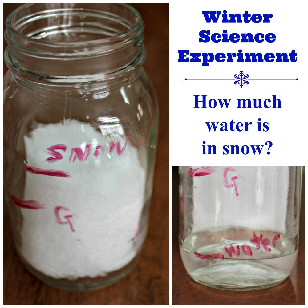 Winter Science Experiment: How Much Water is in Snow?