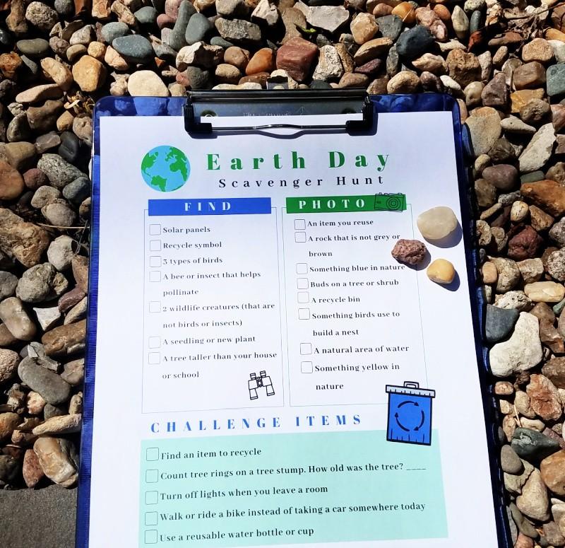 Earth Day scavenger hunt pdf
