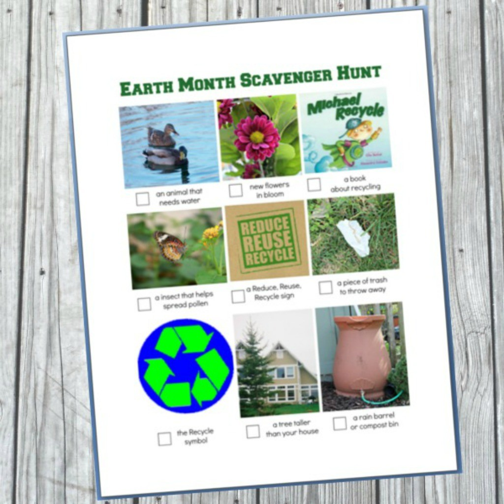 Earth Day Activities: Free Printable Scavenger Hunt