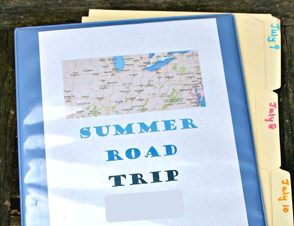 How to make a road trip binder with printable games and activities