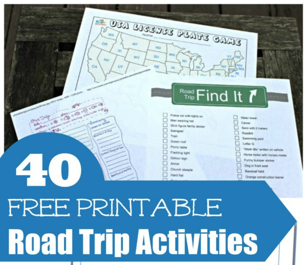 40 Free Printable Road Trip Games & Activities