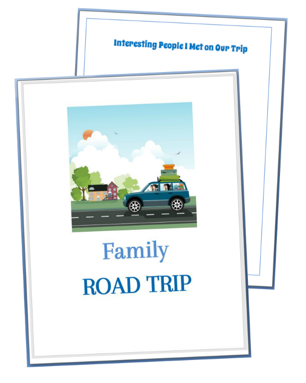 Road trip games binder cover printables