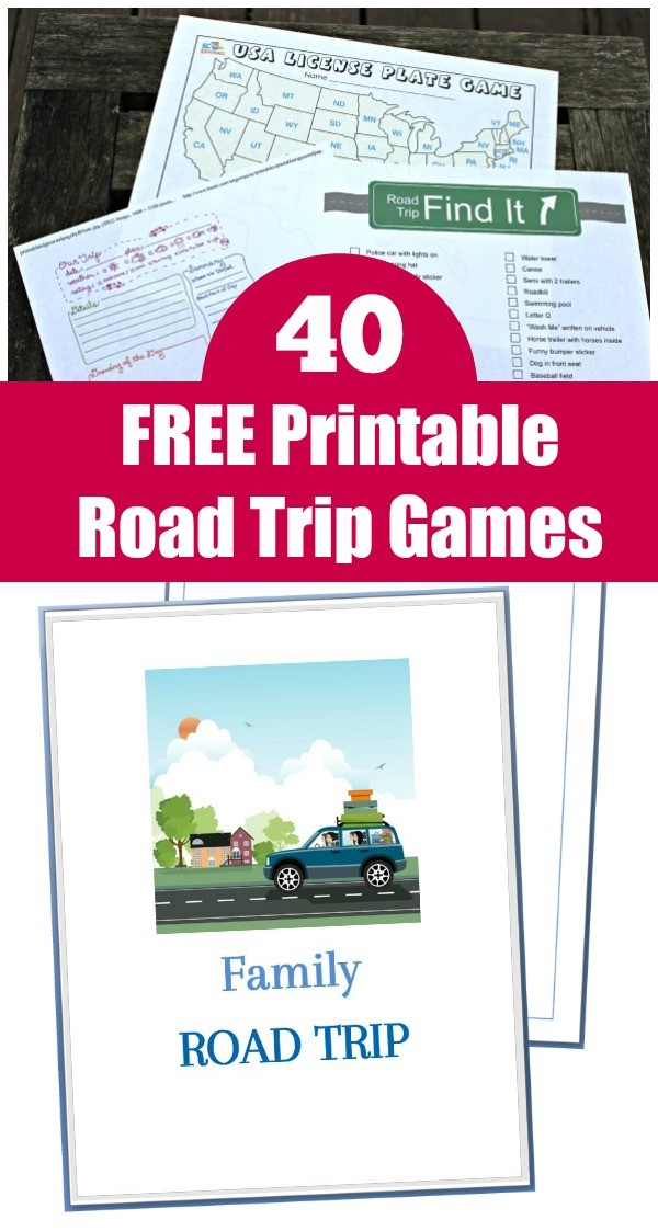 Road trips games and activities for kids, tweens and teens