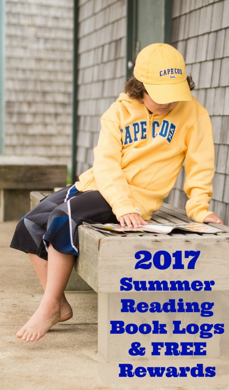 Free Reading Logs and rewards for summer 2017