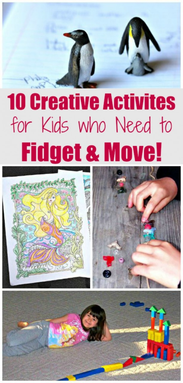 10 Activities for Kids who can't sit still -- instead of fidget spinners!