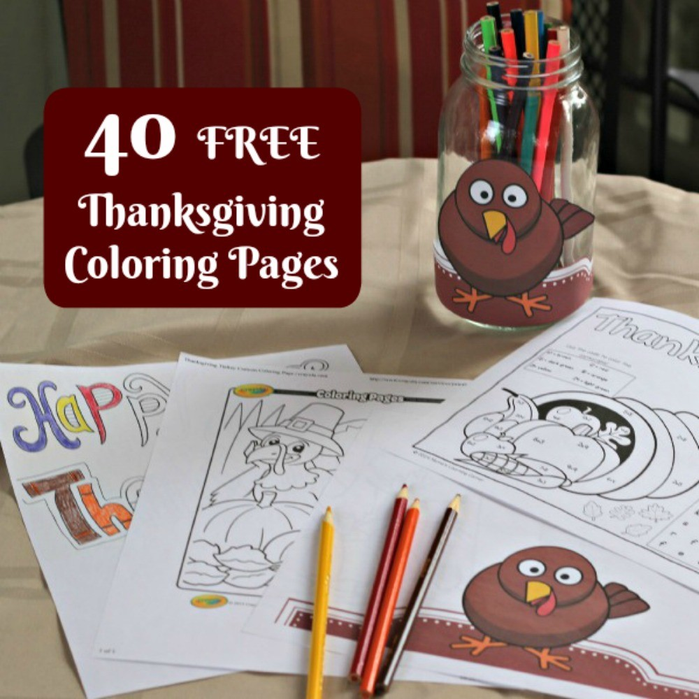 40 FREE Thanksgiving Coloring Pages For Adults & Kids