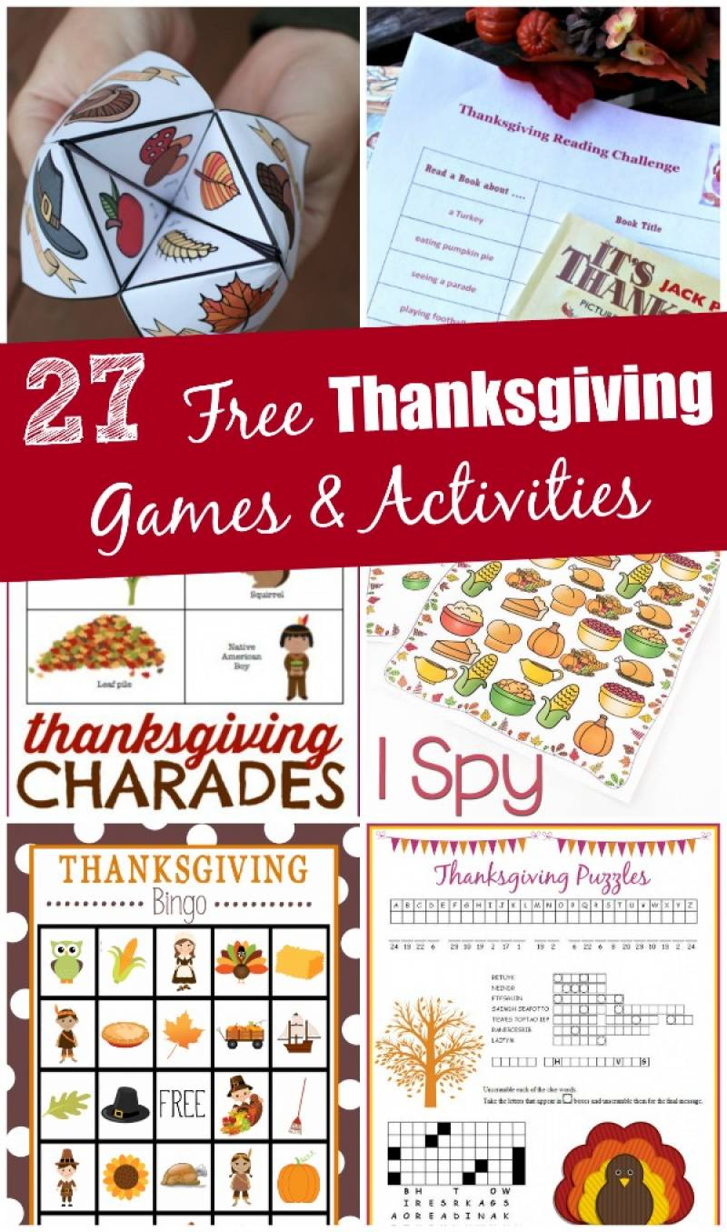 graphic relating to Printable Thanksgiving Activities called 27 No cost Thanksgiving Video games Routines (printable