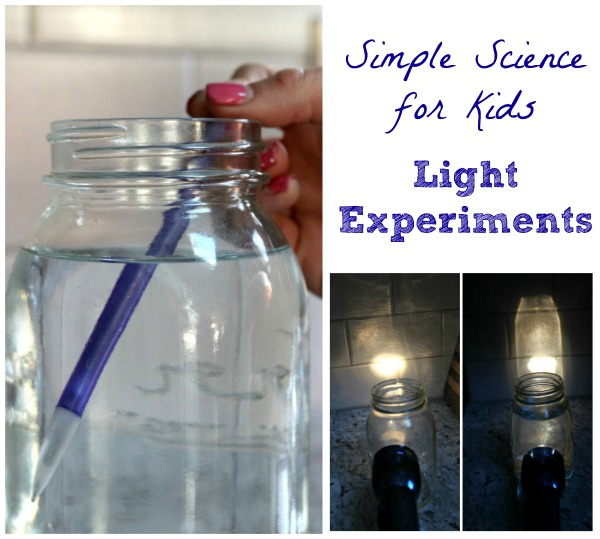 Light Refraction Experiments for Elementary & Middle School