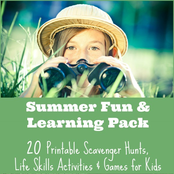 20 Printable Scavenger Hunt, Car Games & Life Skills Activities for Kids