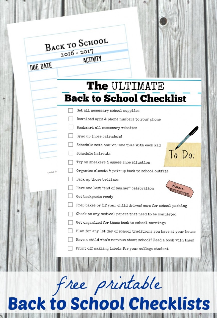 The Ultimate Back to School Checklist {with free printable!}