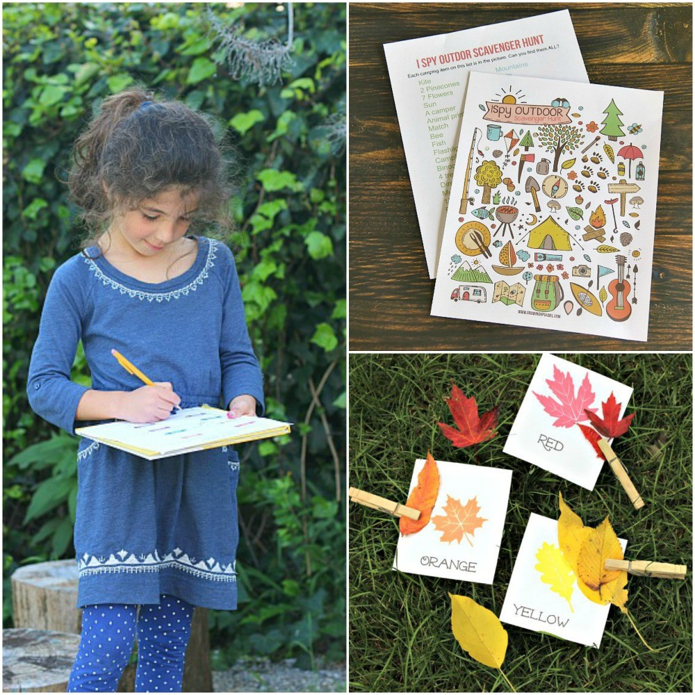 40 Outdoor Scavenger Hunts for Kids {w/free printables!}