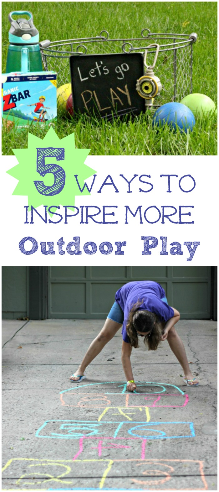 Ideas for getting Kids Outside to Play more!