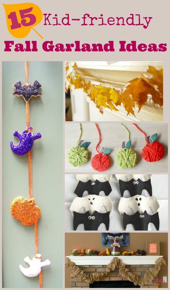 15 DIY Fall Garland Crafts for Kids