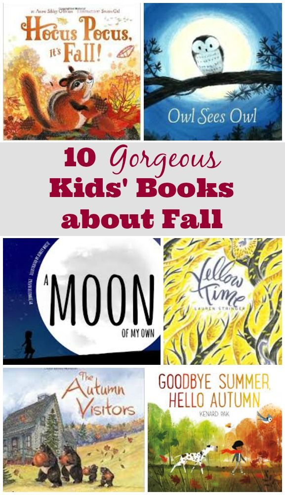 10 Fall Books for Kids - picture books for toddlers, preschoolers and elementary students