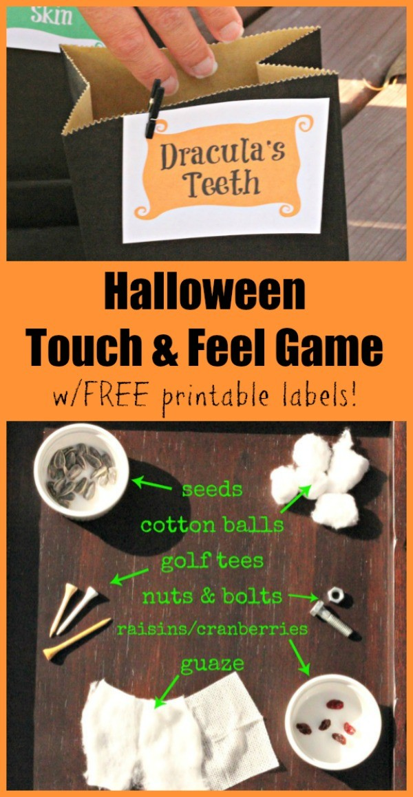 What to put in a mystery box - touch and feel ideas related to Halloween