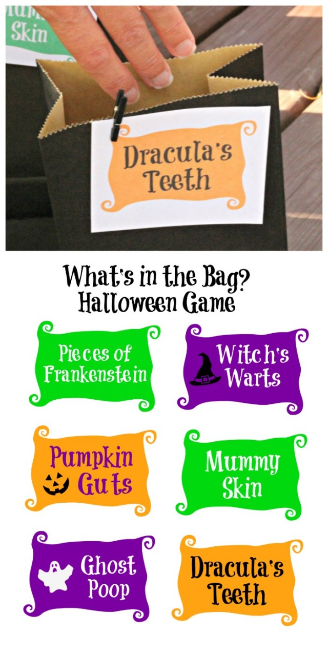 Halloween mystery box ideas and game with free printable labels!