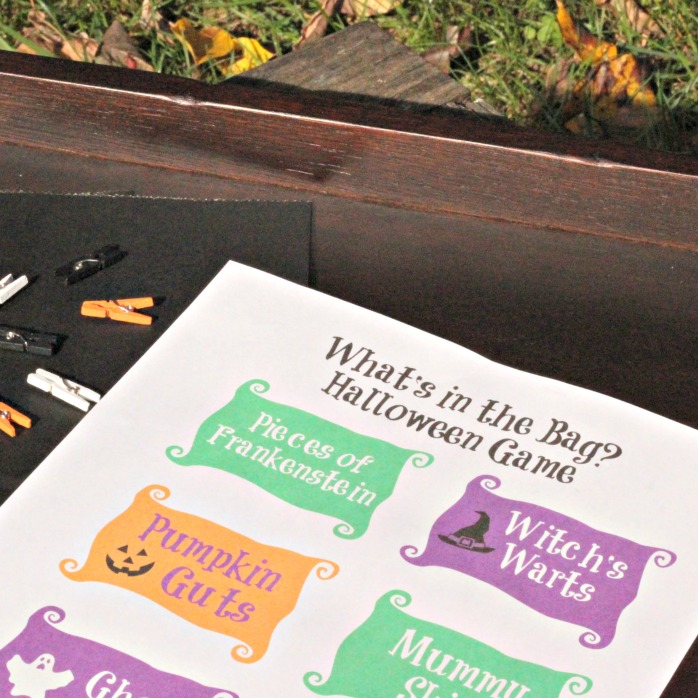 Easy Halloween touch and feel game ideas - things to put in a mystery box