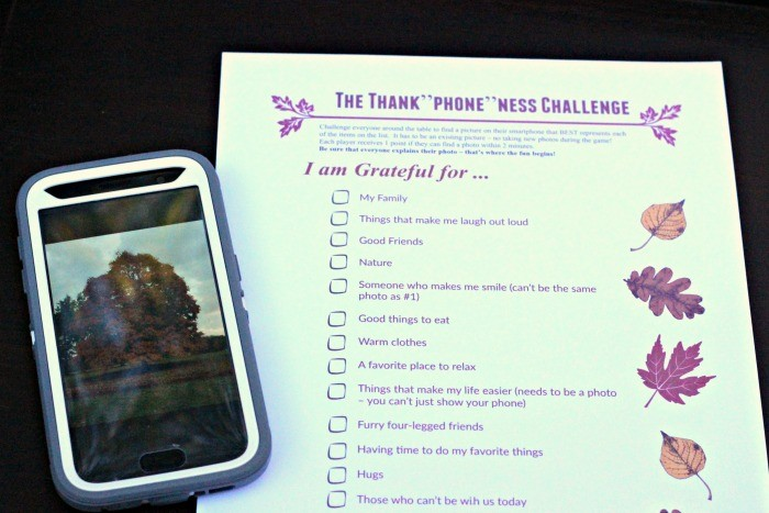 Thanksgiving Game: Photo Scavenger Hunt on Your Smartphone {w/free printable!}