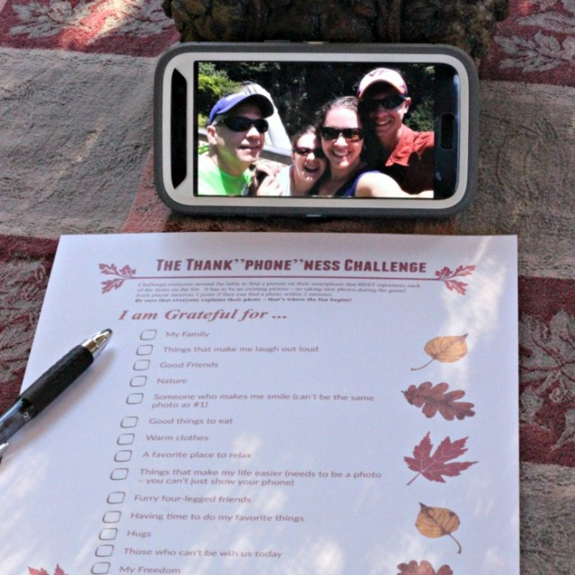 Thanksgiving Photo Scavenger Hunt | Smartphone Thanksgiving Game | Gratitude Scavenger Hunt