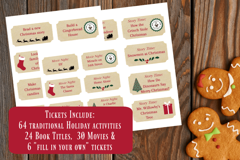 12 Days of Christmas Activities Tickets Include
