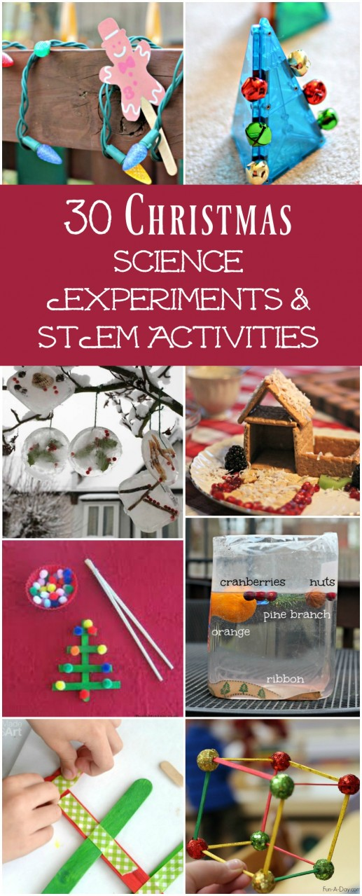 Christmas science experiments and STEM activities for preschoolers, big kids, tweens and teens!