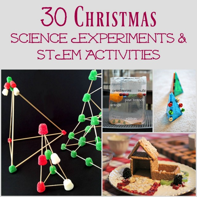Christmas science experiments for preschool, elementary and middle school