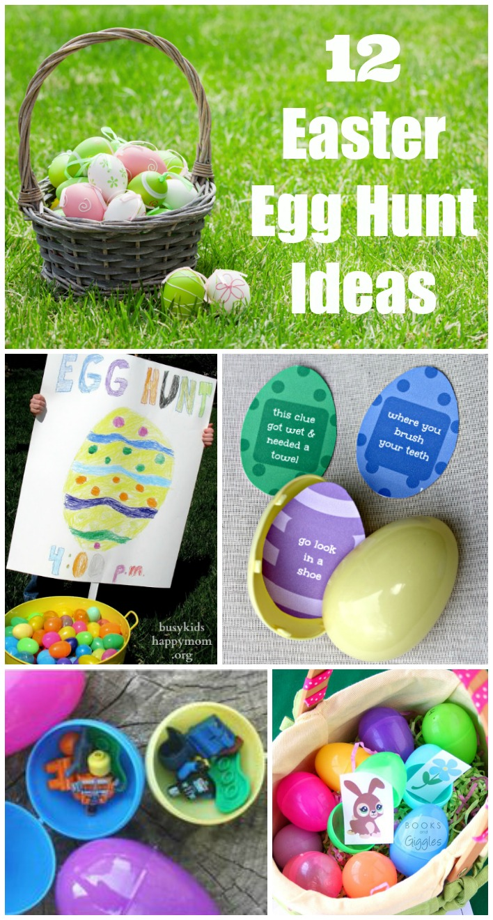 Indoor and outdoor Easter Egg Hunt Ideas