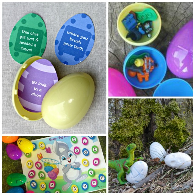 Ideas for indoor and outdoor egg hunts for Easter morning