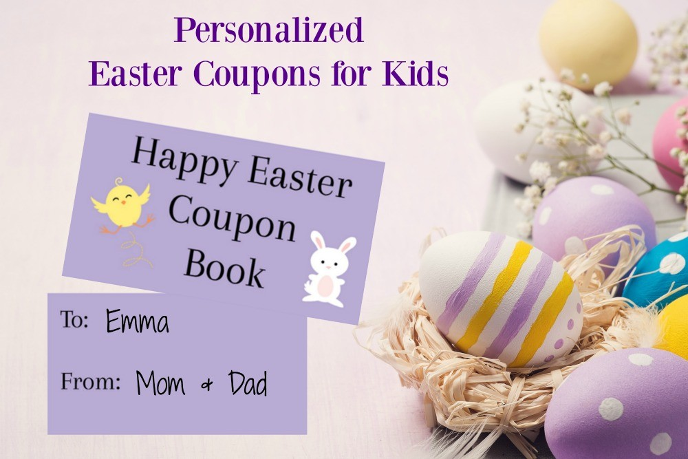 24 Printable Easter Coupons for Kids & Teens
