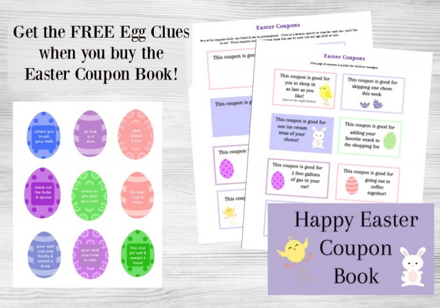 24 printable easter coupons for teens and kids perfect to use as non candy