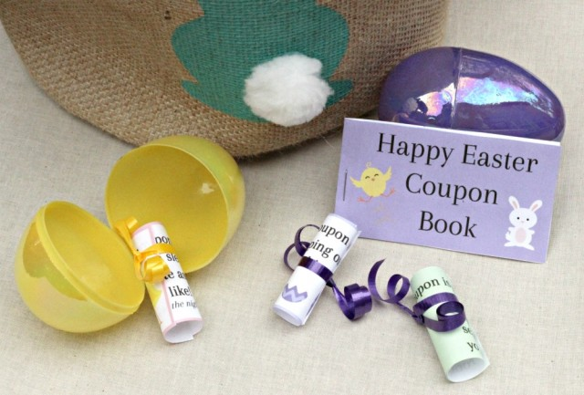 Printable Easter Coupons for Kids and Egg Hunt Clues