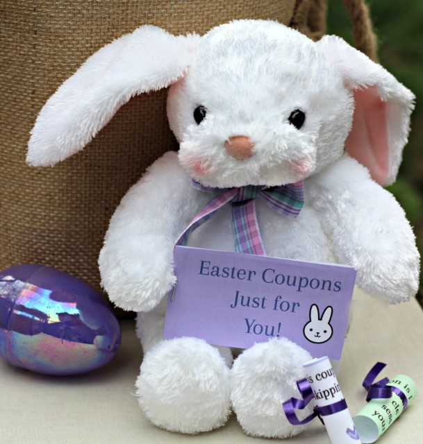Easter activities for kids and teens - printable coupons to customize!