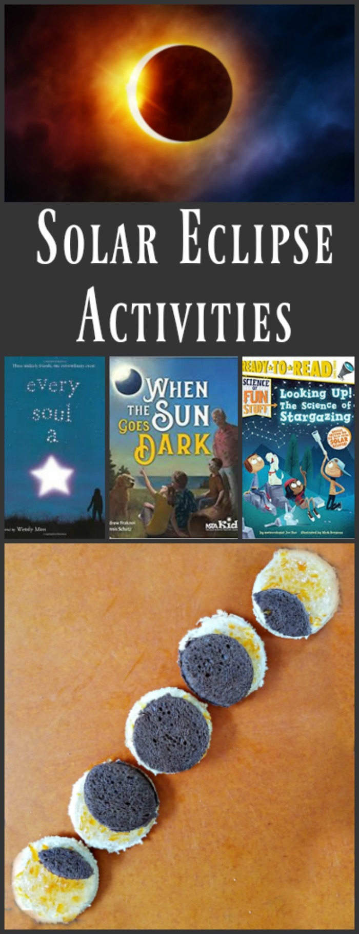 Solar eclipse activities: party food ideas, science activities and viewing tips!