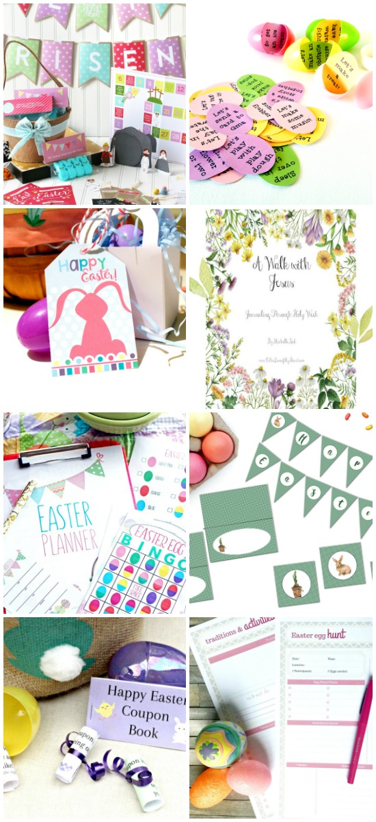 Easter printables for adults and kids - egg hunts, Easter Basket ideas and decorations!