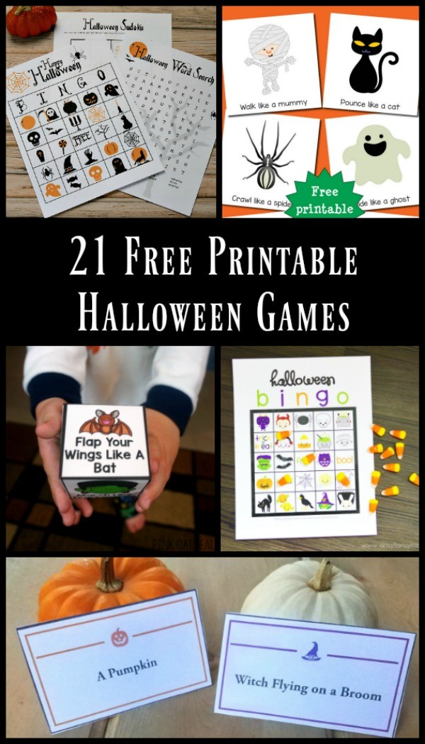 Free printable Halloween games for preschoolers, kids and teens!