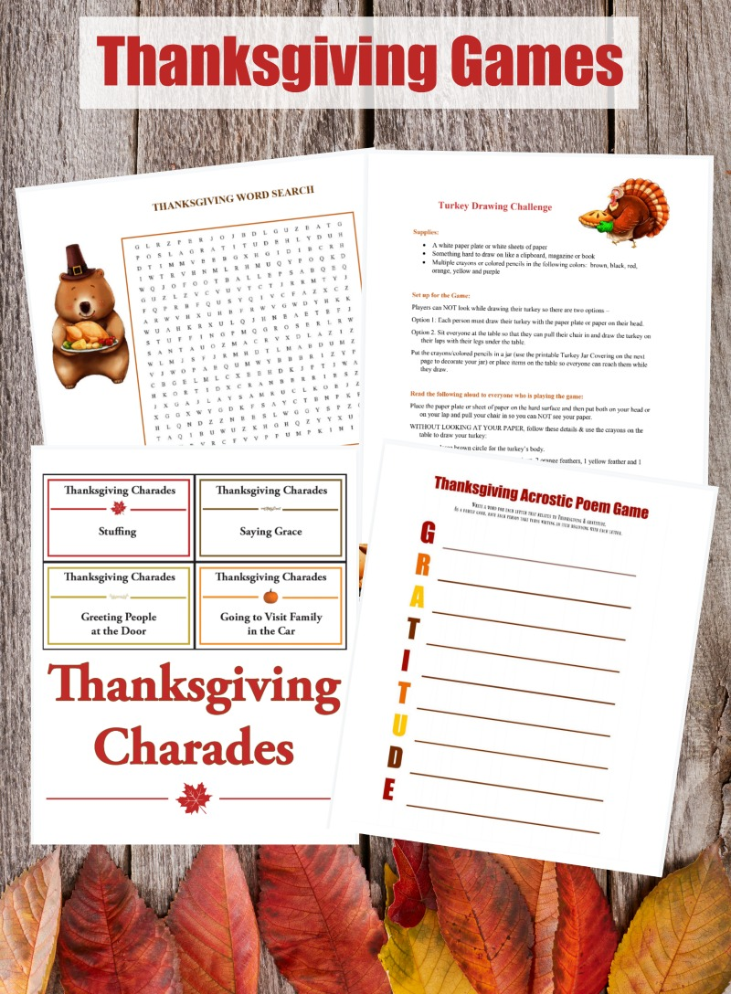 10 Printable Thanksgiving Games for Kids & Adults