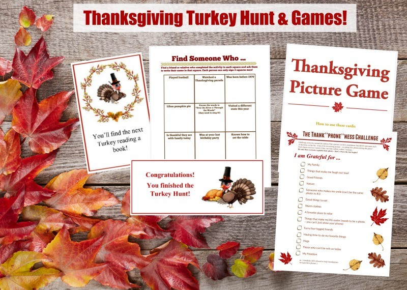 Thanksgiving printable games for the whole family