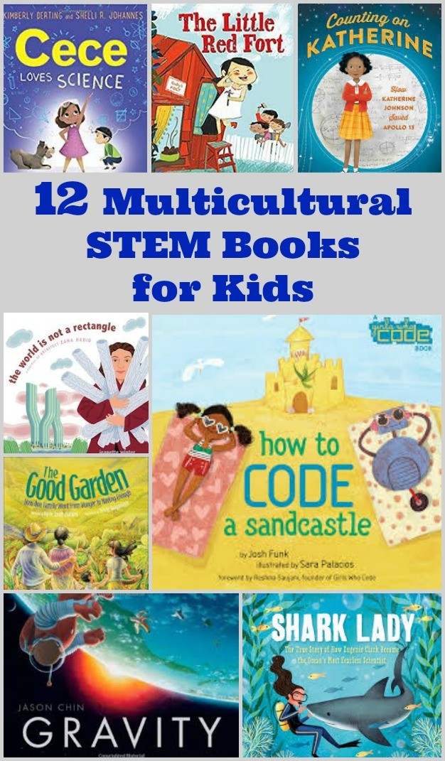 STEM Books for preschool and elementary kids with diverse characters