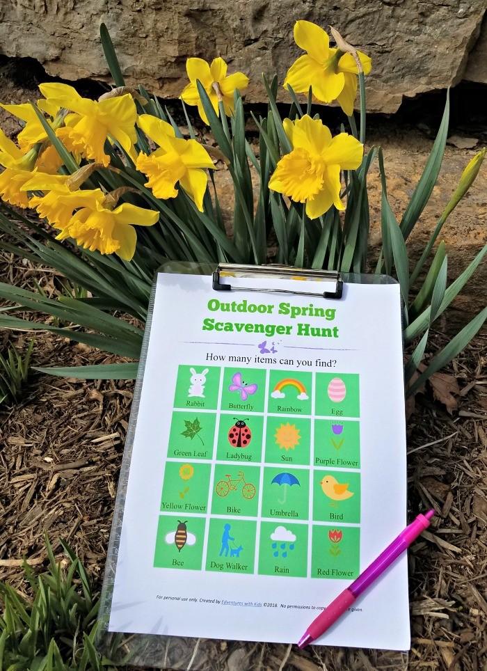 Outdoor spring scavenger hunt