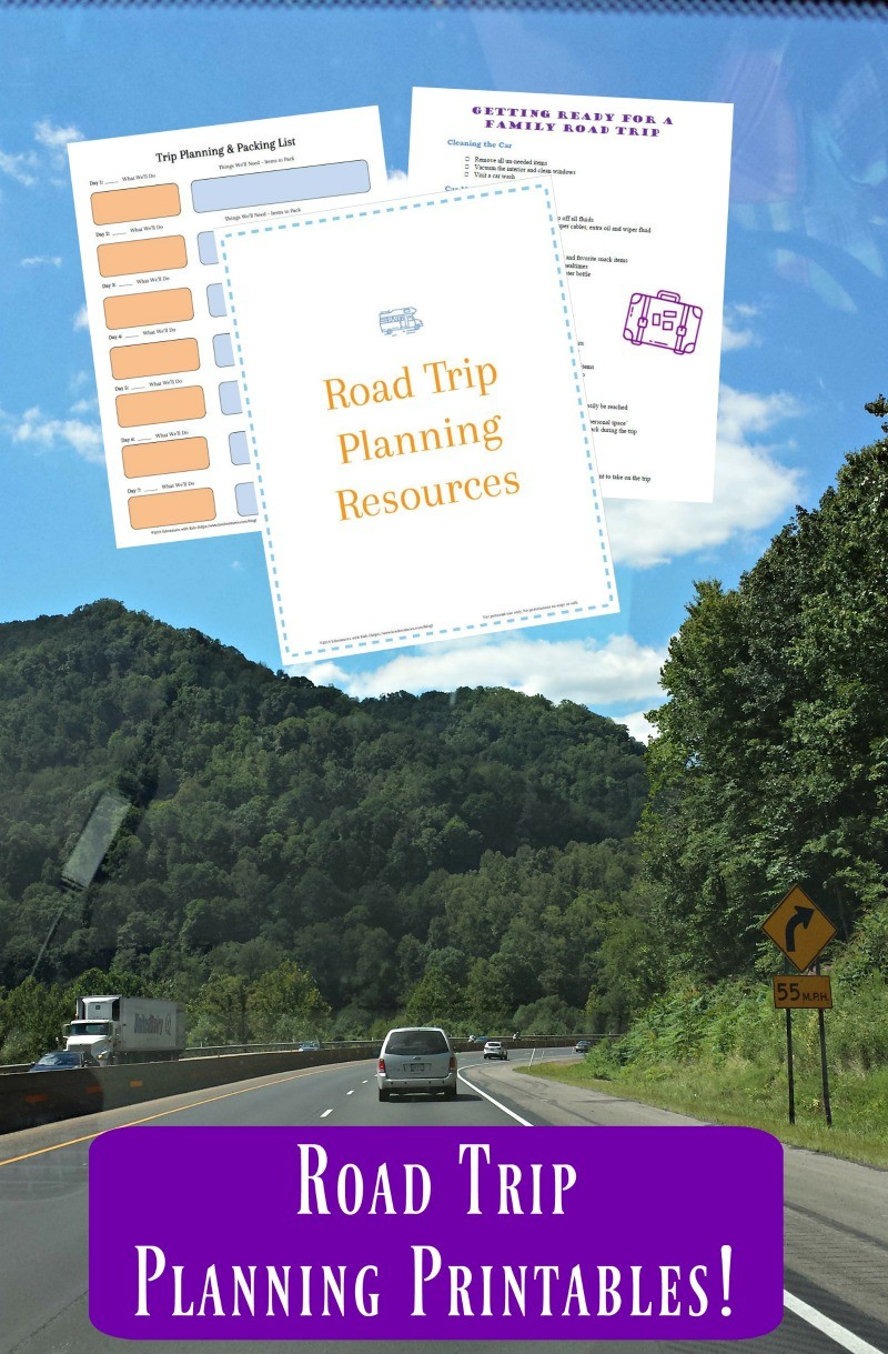 Printable road trip organizer and reward system for long car rides