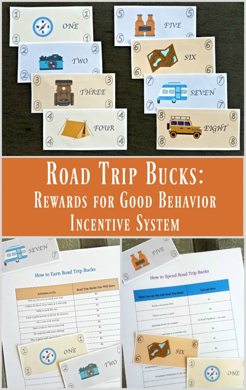 Printable travel money for kids - great activity for a road trip!
