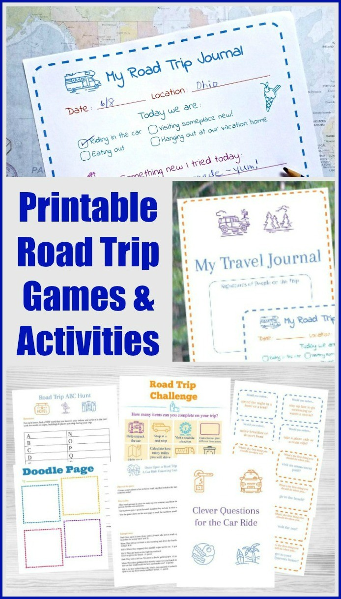 Road trip binder printables - games and activities for long car rides!