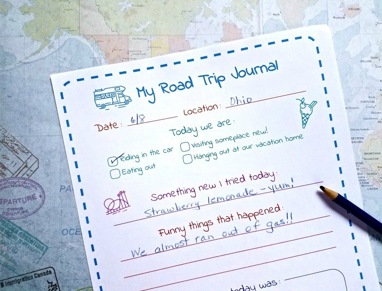 Printable road trip activities and travel games - Ispy, daily travel journal, and more!