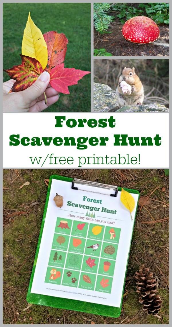 Free Printable Hiking Scavenger Hunt