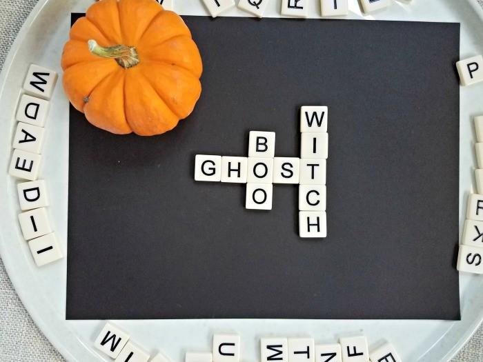 Easy Halloween word games
