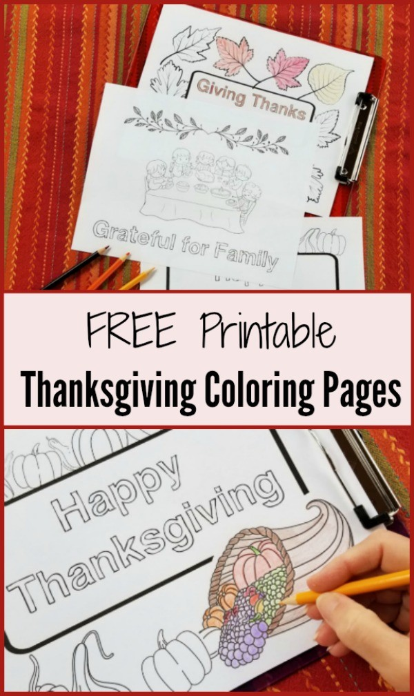 Printable Thanksgiving Coloring pages for adults and kids
