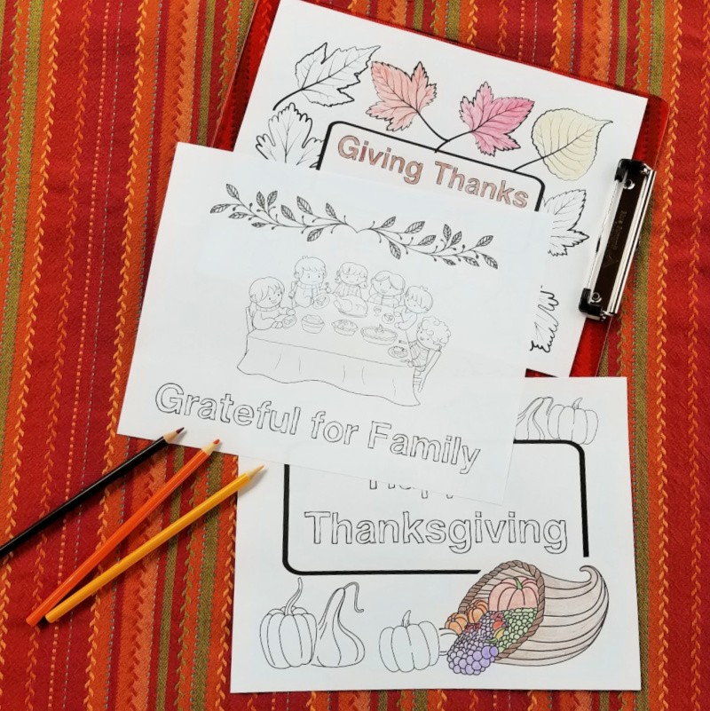 Free printable Thanksgiving Coloring sheets for kids and adults